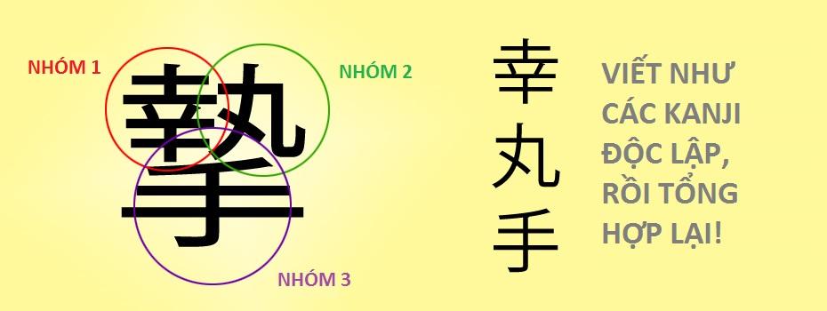 Cách viết Kanji: Kanji phức tạp - chia theo nhóm